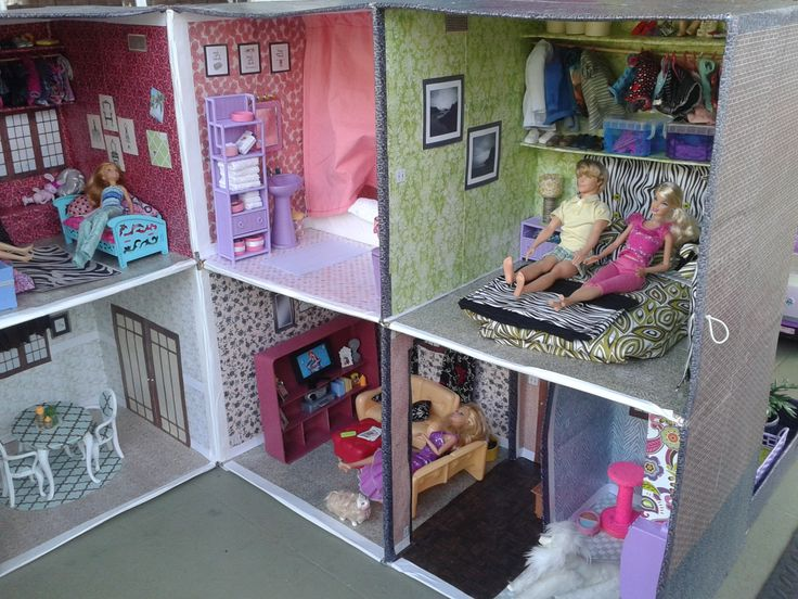 Barbie Bedroom In A Box: 75 Best How To Make A Barbie House From Cardboard Boxes