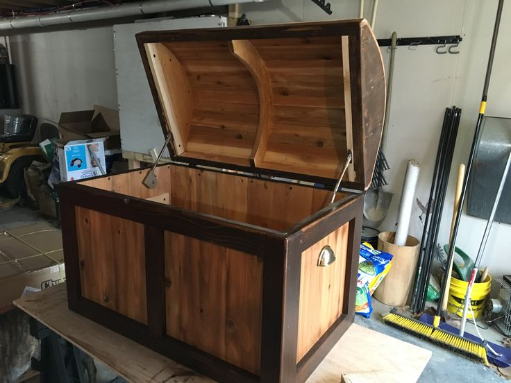 Pirate Chest/Toy Box Build | Internet, Toy boxes and Toy
