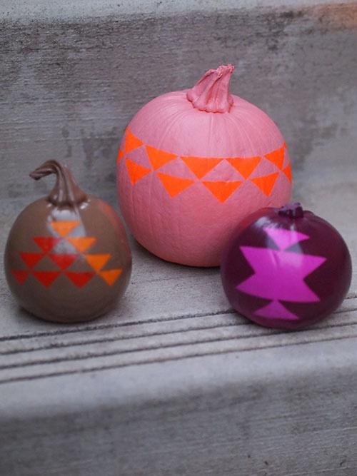 geometric pumpkin DIY by happymundane.com