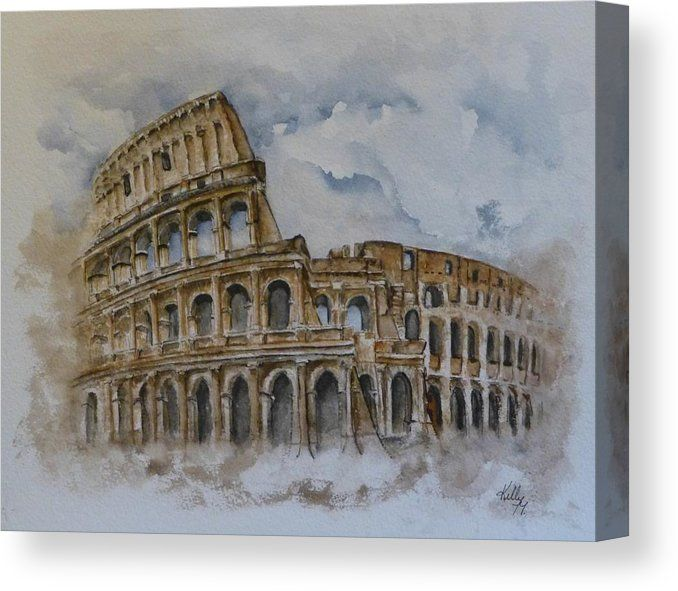 Rome S Colosseum Canvas Print Canvas Art By Kelly Mills Rome Painting Watercolor Architecture Painting