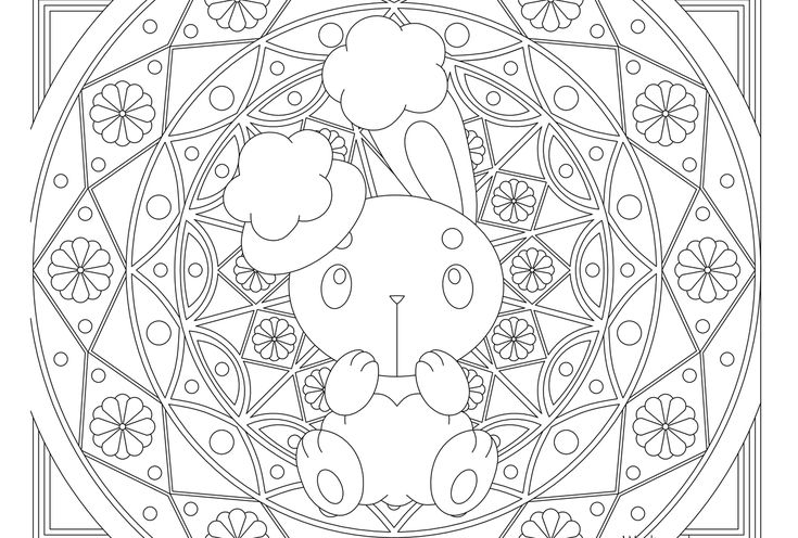 Adult Pokemon Coloring Page Buneary Pokemon Coloring Pages
