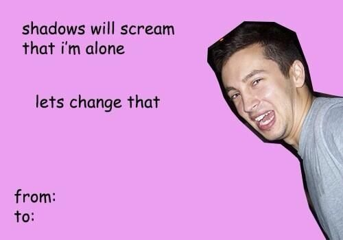 Tyler Joseph twenty one pilots valentine card funny humor stay street stay alive. Skeleton clique trip for concerts tripforconcerts power to the local dream Josh Dun