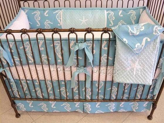 beach themed nursery bedding