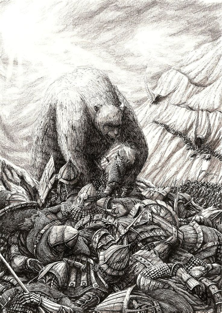 Beorn Finds Thorin by ~Tulikoura on deviantART