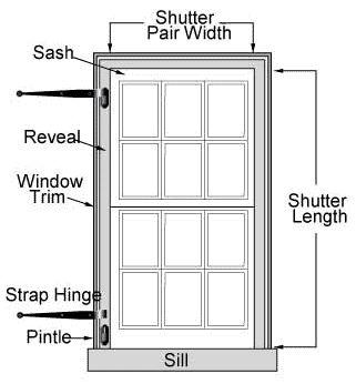 Custom Exterior Shutters, Standard Window Shutters | Hooks and Lattice
