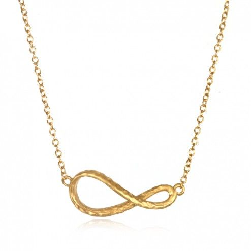 Satya Gold Limitless Infinity Wave Necklace at aquaruby.com
