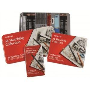 Derwent Sketching Collection Strumenti Assortiti per il Disegno Scatola in Metallo Da 12 €17,50 da 24 €29,90 e da 38 €57 su bellearti.it