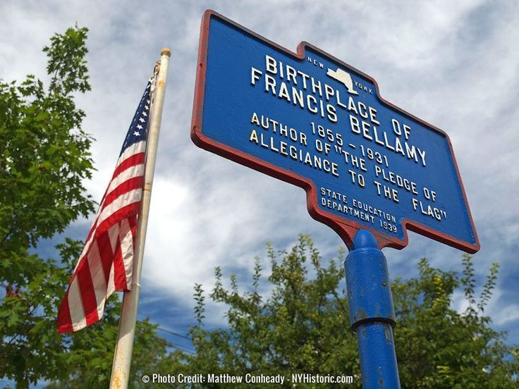 Related Markers: Francis Bellamy Memorial Park Marcus Whitman Birthplace
