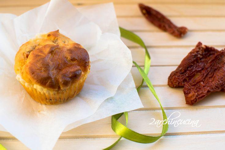Muffin salati ai pomodorini secchi #ricetta facile e veloce