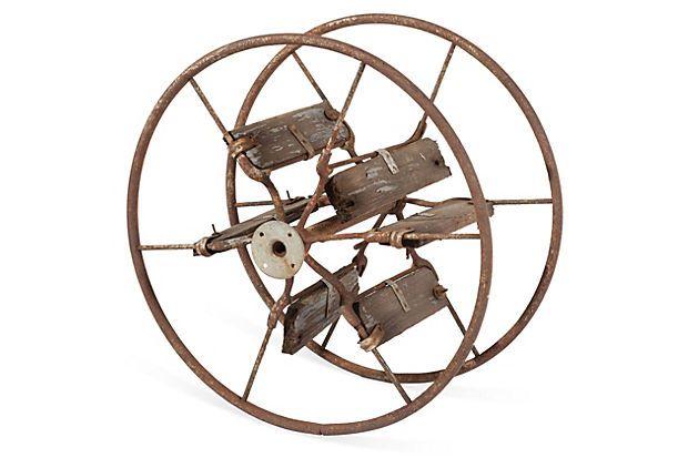 "Flat Hose Reel  -  JOHN MAZUR  -  MATERIAL OBJECTS  -  16""H x 22""D  -  OneKingsLane.com  -  ($125.00)  $99.00"