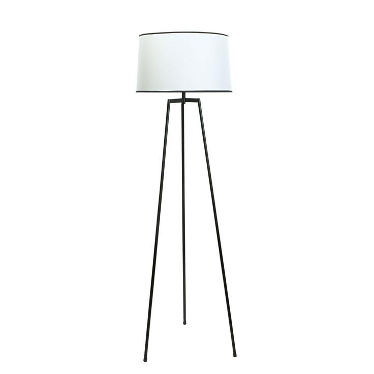 Harvey Black & Cream Floor Lamp | Departments | DIY at B&Q