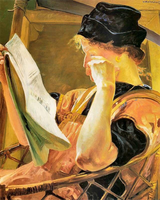 Мария балова читает некрологи в газете Мальчевский