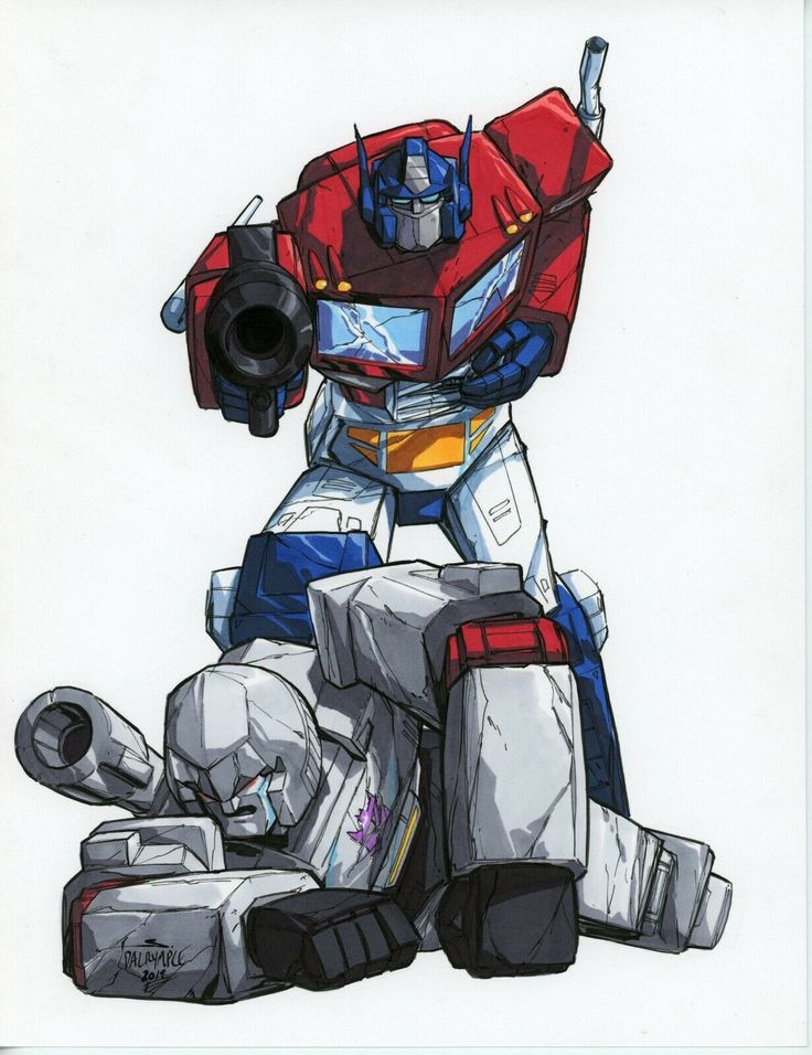 Optimus prime vs megatron by scott dalrymple