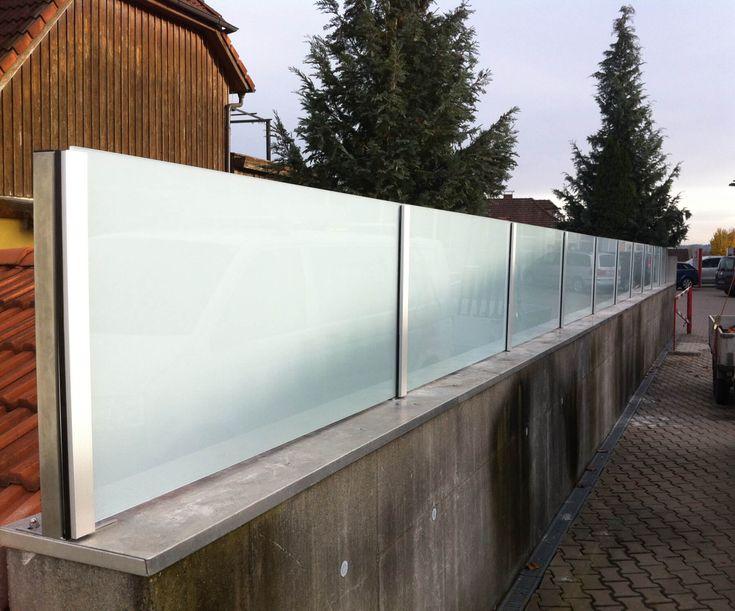 Sichtschutz aus Glas mit Milchglasfolie in 2020