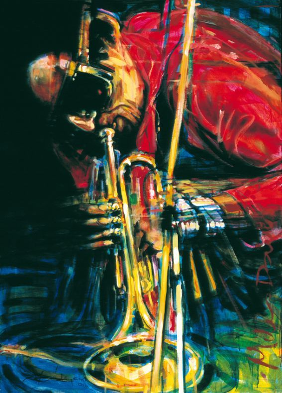 Jazz Art Paintings / Miles Davis / acrylics on canvas / 120x160 cm. / Sold