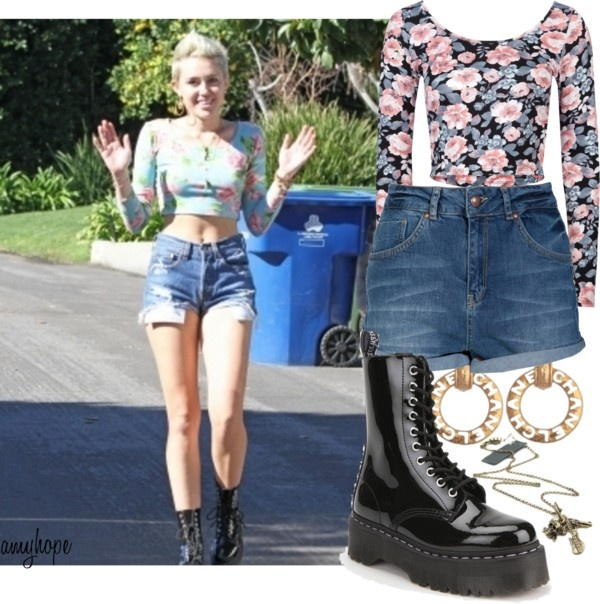 """""""Miley Cyrus."""" by amy-hope ❤ liked on Polyvore"""