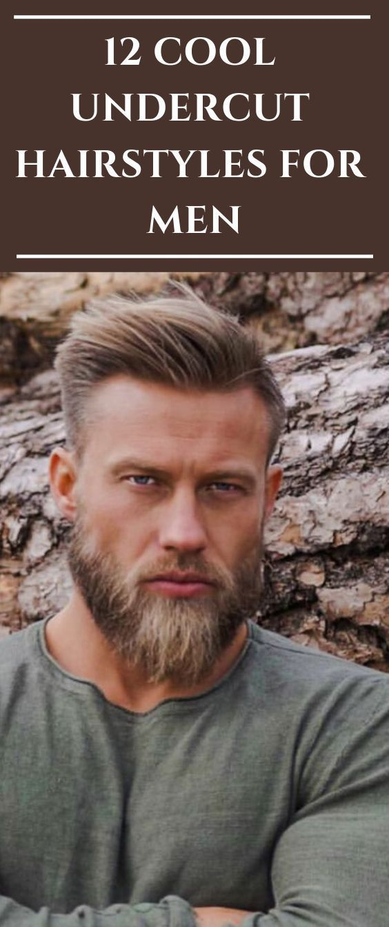 12 Cool Undercut Hairstyles For Men #hair #haircut #hairstyle #menshair #mens,  #Cool #hair #...