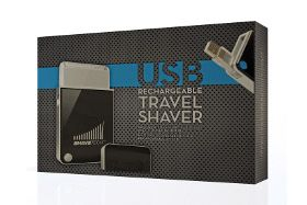 Shave Tech  This razor plugs into USB. I currently use an old battery operated Braun razor. This would eliminate batteries!! Only cost about $30.