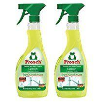 Frosch Natural Lemon Shower & Bathroom Cleaner Spray Bottle, 500ml (Pack of 2)