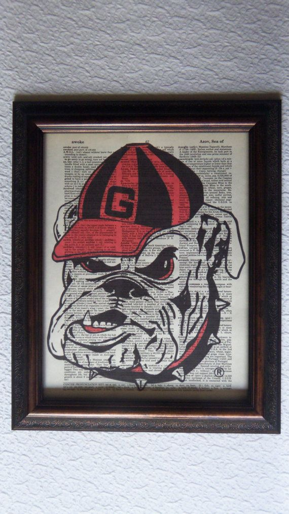 Vintage 8 3 8 x 10 3 4 Georgia Bulldogs Dawg by Picks4You on. 648 best How  bout them DAWGS    images on Pinterest   Georgia