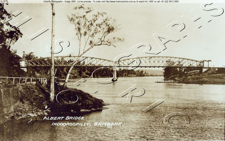 ALBERT BRIDGE , BRISBANE C.1905 INDOOROOPILLY QLD. AU