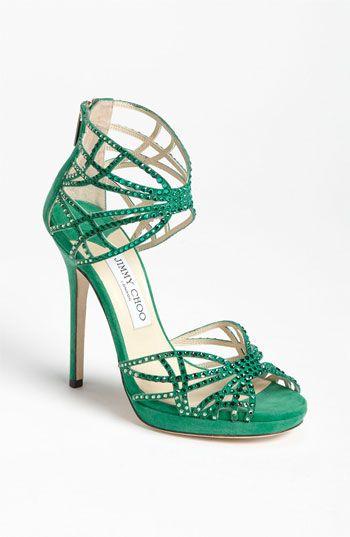 Pretty Choo Shoes #emerald #coloroftheyear