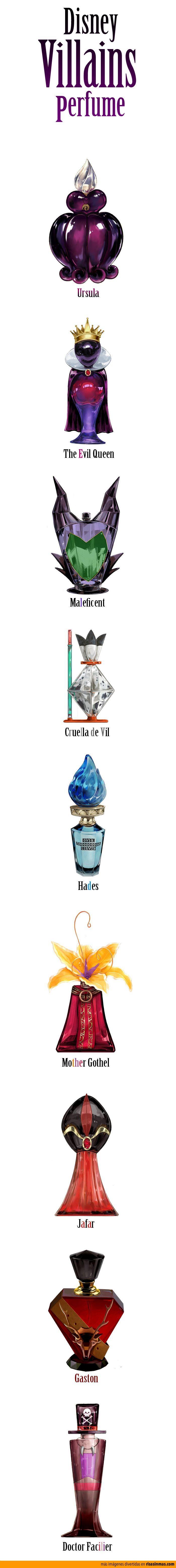 Perfumes de villanos de Disney.