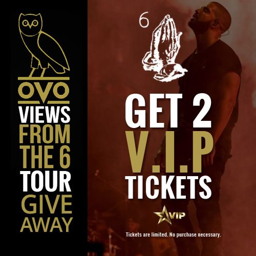 Get a Pair of Drake #ViewsFromThe6 Tour VIP Tickets