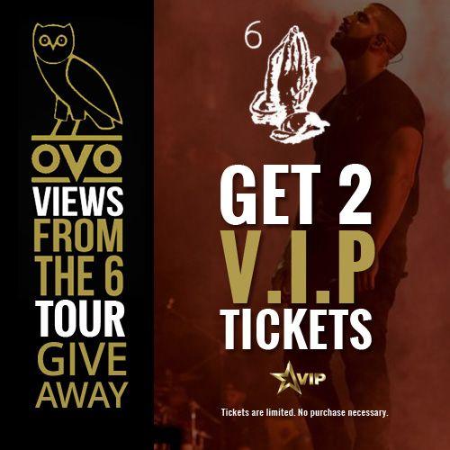 Get a Pair of Drake #ViewsFromThe6 Tour VIP Tickets