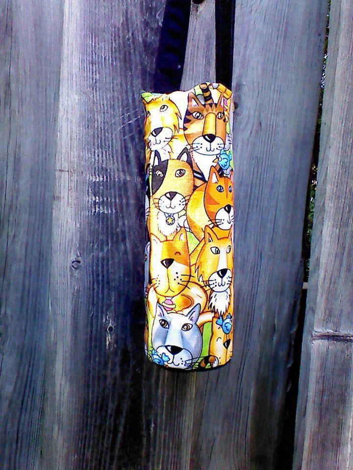 Custom Kitty water bottle holder