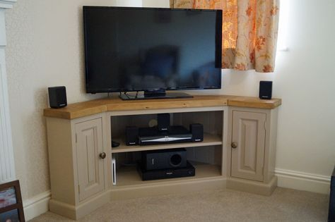 Reclaimed Edwardian Corner TV Unit. Bespoke Corner TV Unit!
