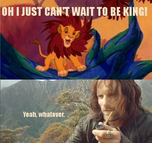 "This reaction to Simba. | 23 Pictures Only ""Lord Of The Rings"" Fans Will Think Are Funny"