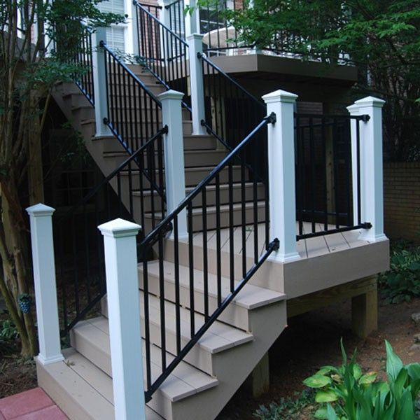 Safe Deck Railings Stairs: Fortress Fe26 Classic Iron RAKE Adjust-A-Rail Stair Panel