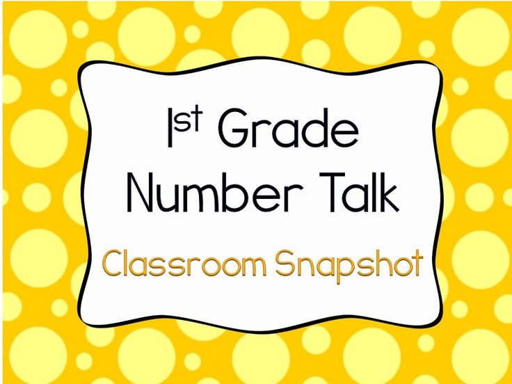 1st Grade Number Talk