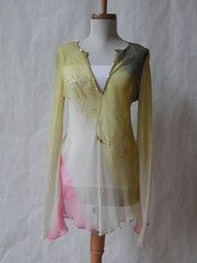 Reconstructed Silk Crepe Blouse In Pastels
