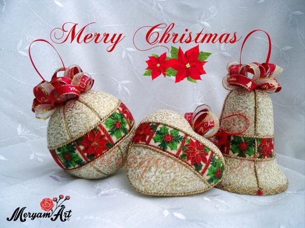 Suchý patchwork je vďačná a neuveriteľne efektná technika. Autorka: meryam. Vianoce, vianočné dekorácie. Artmama.sk