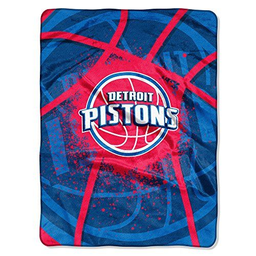 The Northwest Company NBA Detroit Pistons Shadow Play Raschel Blanket 60Inch by 80Inch *** More info could be found at the image url.