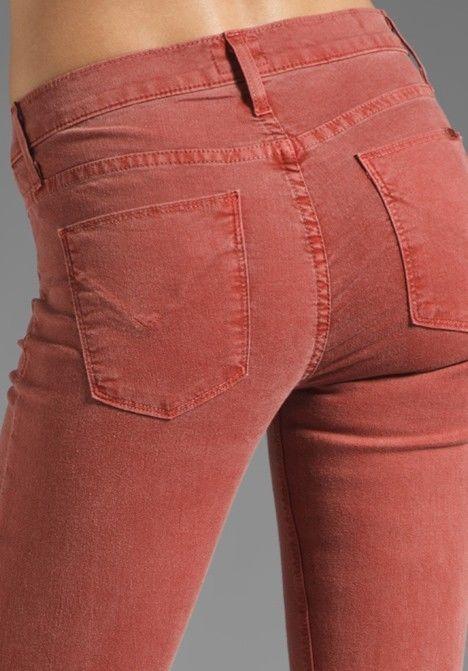 HUDSON Red Nico Skinny Womens Jeans In Sepia Style# WM407JFD #HUDSON #SuperSkinny