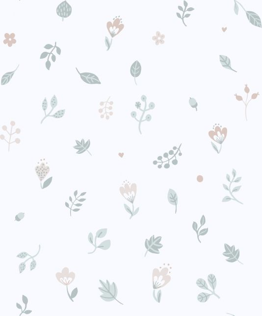 Hillevi Wallpaper A Pleasing Wallpaper Featuring Small Flowers And Leaves  Floating As If Caught In A