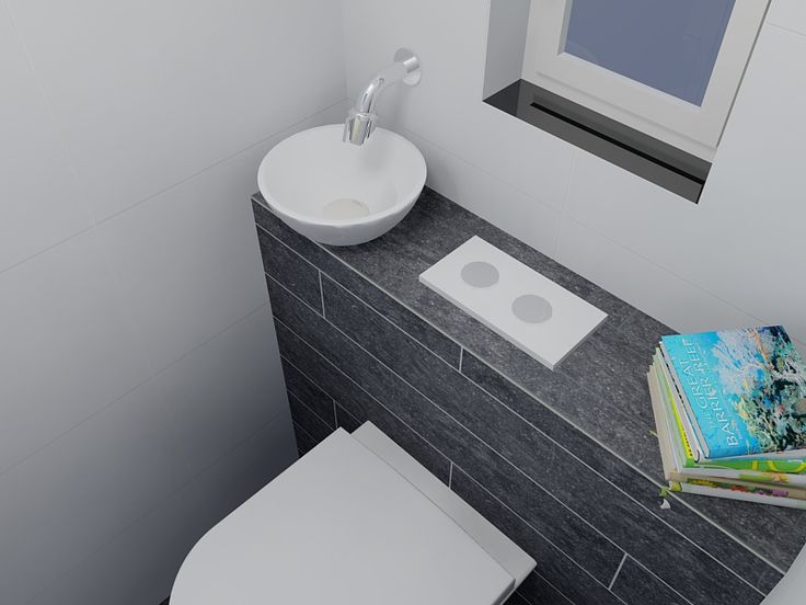 Witte Badkamer Wandtegels ~ panel for hiding toilet cistern and controls for toilet and