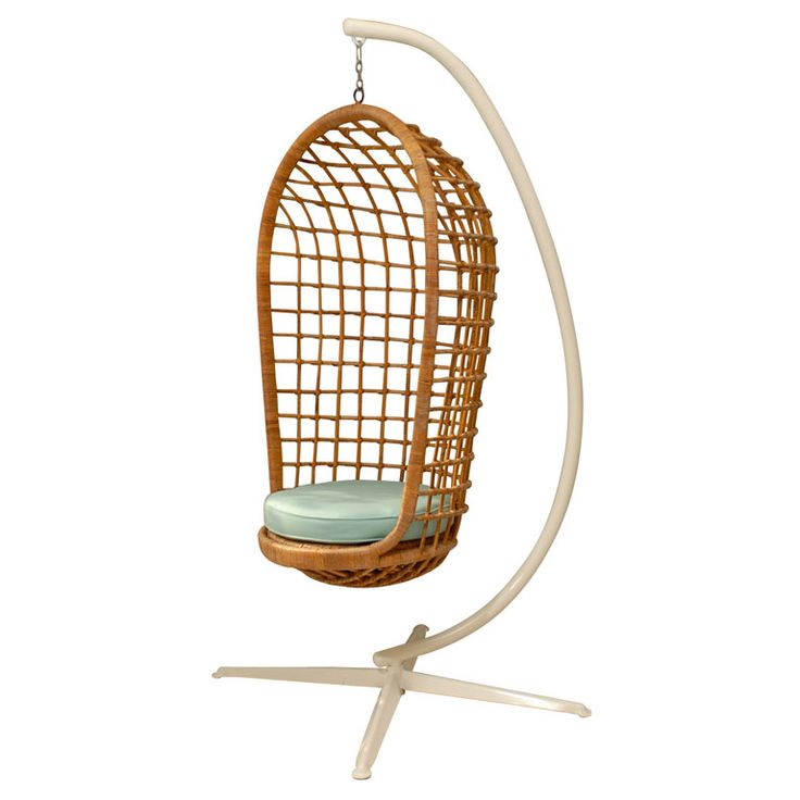 Hanging Rattan Chair From Pieces   Two Of These Would Look Fab On My Terrace
