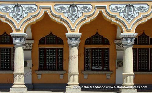 Early Neoromanian style: Buzau Commune Palace columns
