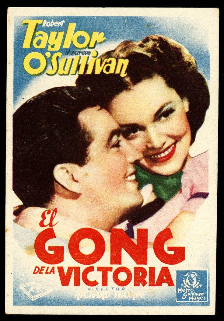 """Programa de mano de cine de la película """"El gong de la Victoria"""", estrenada en España en el año 1935"""