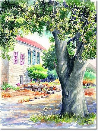 Art prints, posters, painting reproductions, frame pictures, shadows under tree