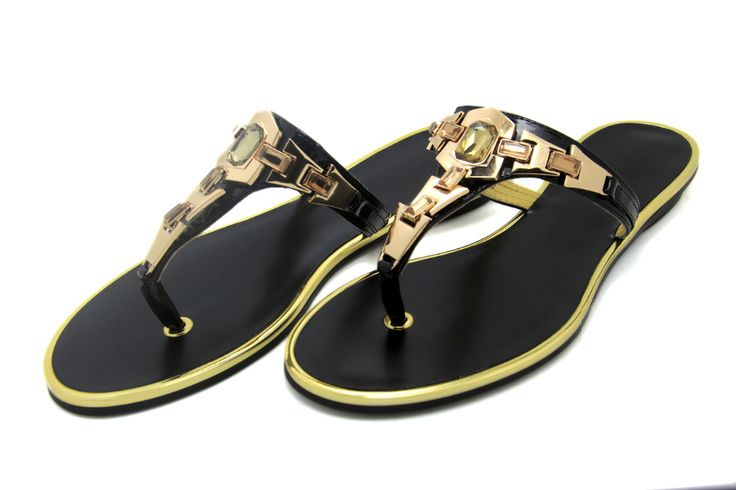 Brand 2016 New Arrival Women's Shoes Women Sandals Flat Casual Sandals Metal Gladiator Beach Flip Flops Leather Plus Size US 12 - CattleyaStore CattleyaStore