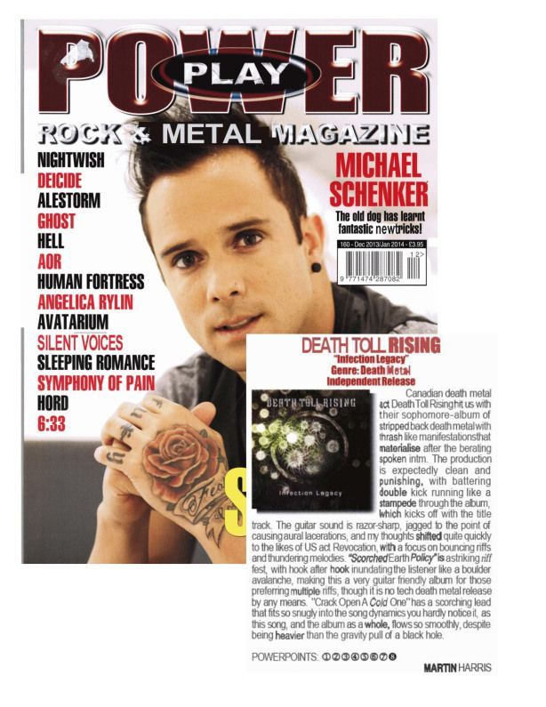 Dec 2013 - Jan 2014 - Powerplay Mag - Death Toll Rising Review