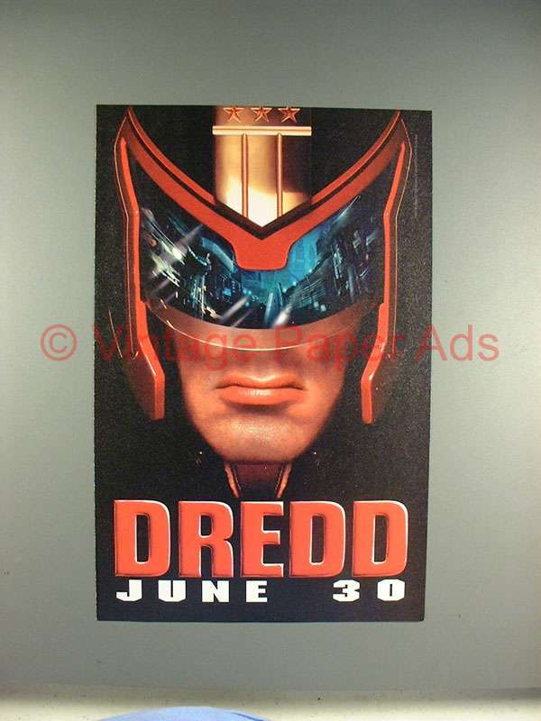 1995 Judge Dredd Movie Ad - Sylvestor Stallone