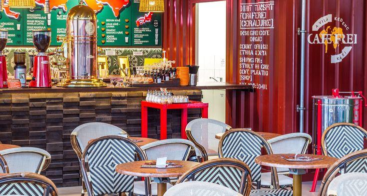 Frei Café in Budapest #coffeeshop #rattan #cafedesign #contract #furniture #design