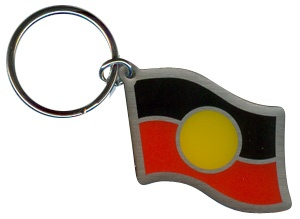 Aboriginal Flag Keyring