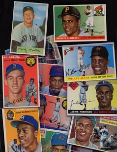 We collected baseball cards.